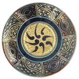 TURQUOISE / GOLD SHALLOW LUSTRE WARE BOWL