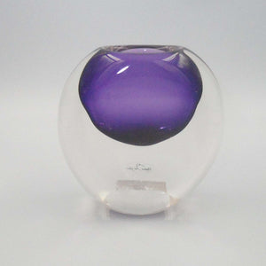 ECLIPSE PURPLE GLASS VASE