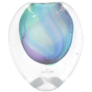 ECLIPSE BLUE/GREEN/PINK GLASS VASE