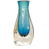 ECLIPSE BLUE BLOWN GLASS VASE  TALL