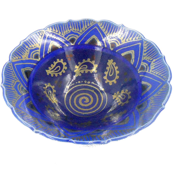 BLUE LUSTRE WARE BOWL