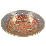 RED / BLUE / GOLD LUSTRE WARE BOWL