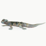 LT GREY/GREEN HANDCRAFTED GLASS GECKO 2