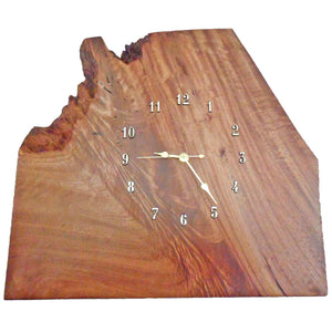 QUEENSLAND MAPLE SLAB CLOCK