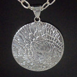 ROUND ARGENTIUM SILVER Pendant with organic pattern