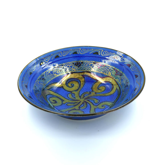 BLUE & GOLD LUSTRE WARE BOWL