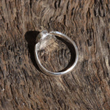 TRIANGULAR BOULDER OPAL IN ARGENTIUM SILVER RING