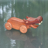 HAND CRAFTED WOODEN TOY HIPPOPOTAMUS 2
