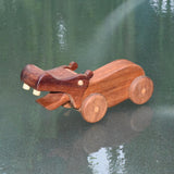 HAND CRAFTED WOODEN TOY HIPPOPOTAMUS