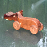 HAND CRAFTED WOODEN TOY HIPPOPOTAMUS 4