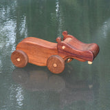 HAND CRAFTED WOODEN TOY HIPPOPOTAMUS 5