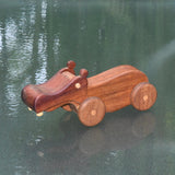 HAND CRAFTED WOODEN TOY HIPPOPOTAMUS 3