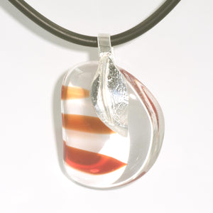 ARTISAN GLASS PENDANT with Argentium Silver Bail