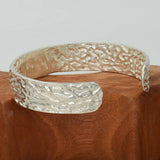 ORGANIC  ARGENTIUM SILVER Bangle Cast from Dry Seaweed 2