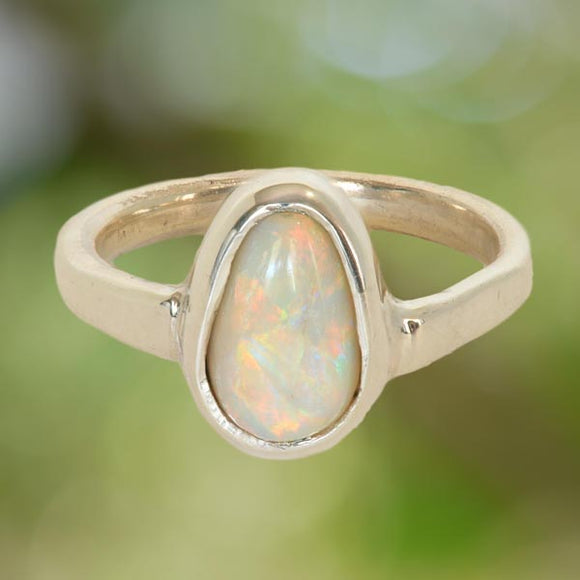 Opal in an Argentium Silver Ring