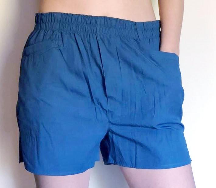 New! Solid Blue Boxers