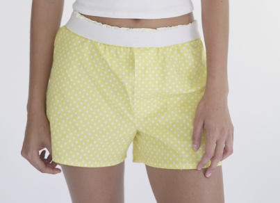 Polka Dot Yellow Boxers