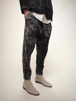 THE ACID WASHED BLACK DENIM PANT