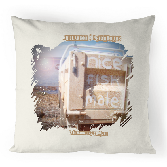 NICE FISH MATE - 100% Linen Souvenir Cushion Cover