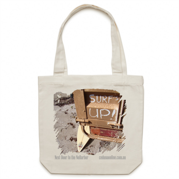 THE SURF'S UP - Souvenir Canvas Tote Bag
