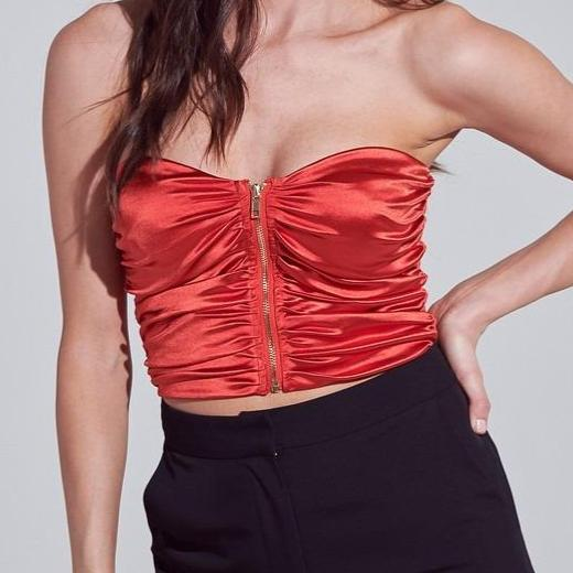 TOP ROJO SATIN @