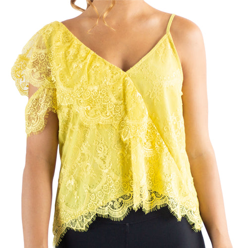BLUSA AMARILLA ONE SHOULDER..