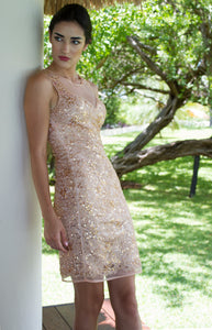 VESTIDO MOLLY ROSE GOLD*