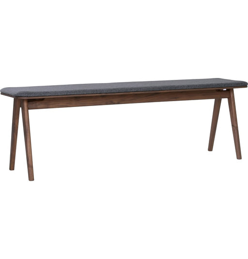 Fidel Bench - Walnut & Dim Grey