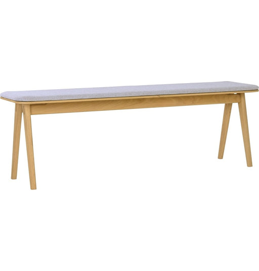 Fidel Bench - Oak & Squirrel Grey