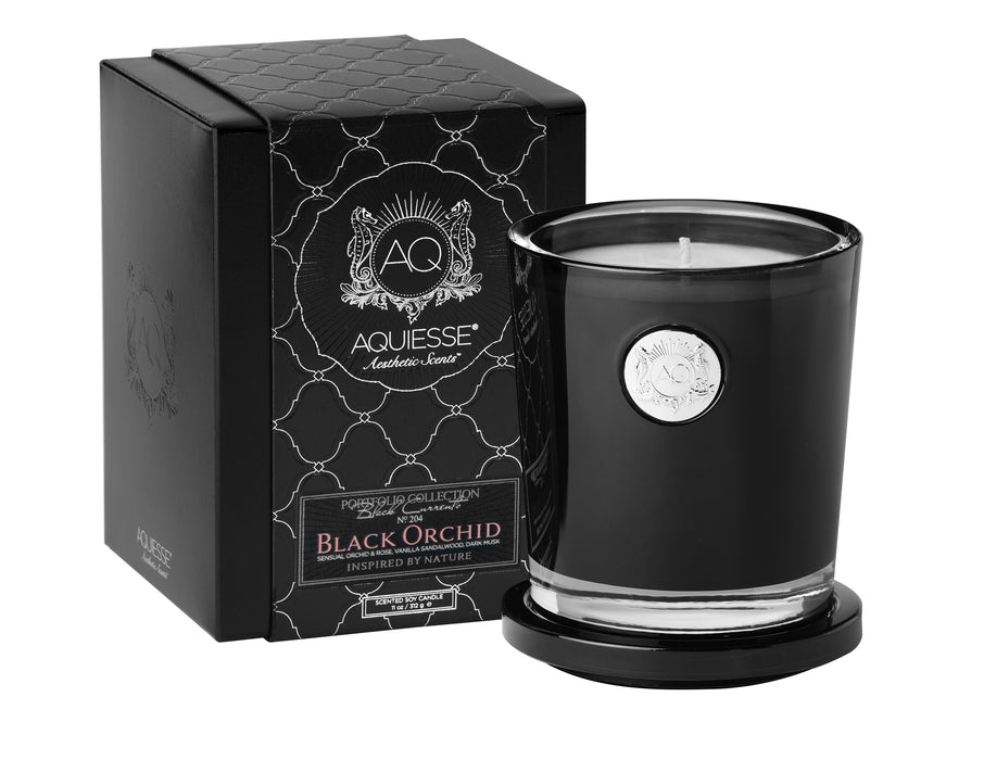 Black Orchid - Large Soy Candle /Gift Box - Tuftd