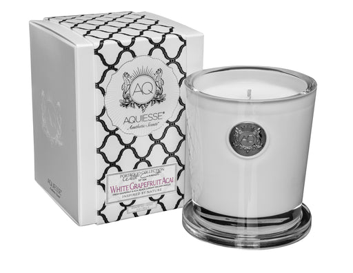 White Grapefruit Acai - Large Soy Candle /Gift Box - Tuftd