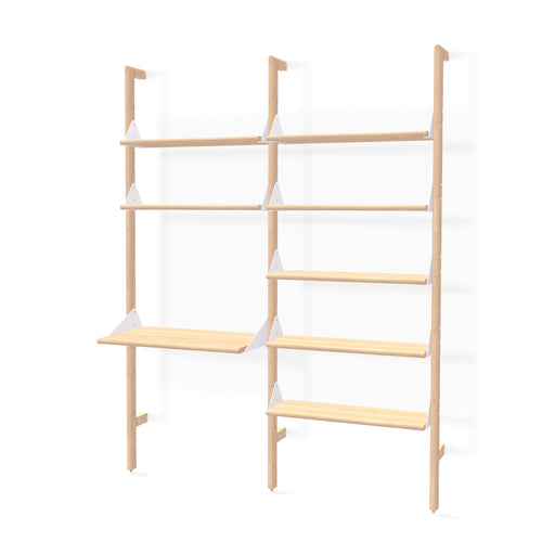 Branch-2 Shelving Unit w/ Desk - Tuftd