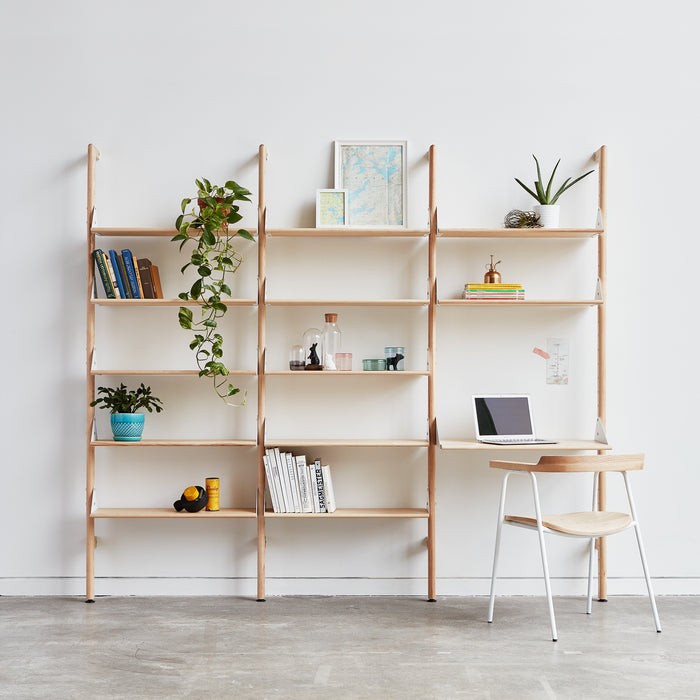 Branch-3 Shelving Unit w/ Desk - Tuftd