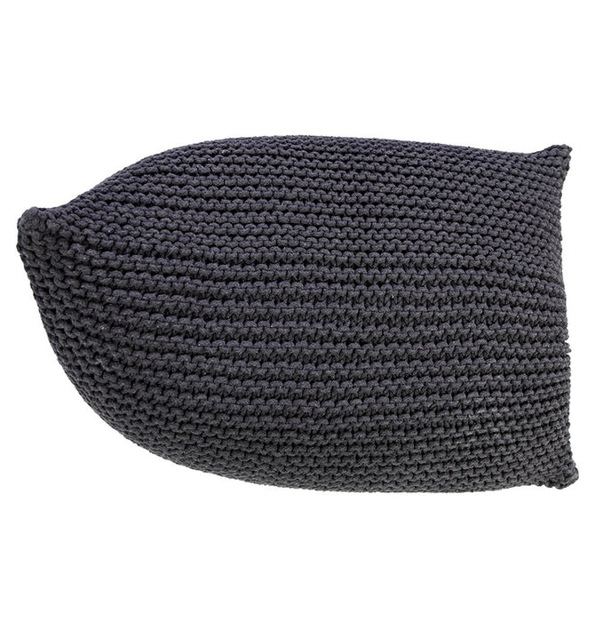 Handmade Knitted Beanbag | Charcoal Gray