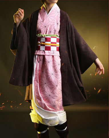 Kimetsu no Yaiba: Demon Slayer Nezuko Kamado Cosplay HIGH QUALITY Authentic Japanese Kimono Costume