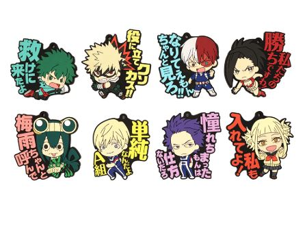 Boku no Hero Academia: PVC Rubber Character Keychains