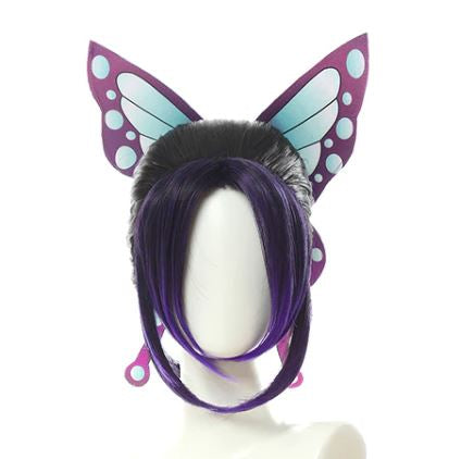 Kimetsu no Yaiba: Demon Slayer Shinobu Kocho Cosplay Wig And Headpiece