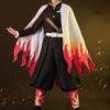 Image of Kimetsu no Yaiba: Demon Slayer Rengoku Kyojuro Cosplay HIGH QUALITY Authentic Outfit Costume