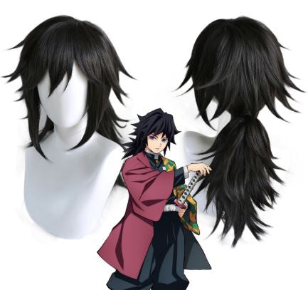 Kimetsu no Yaiba: Demon Slayer Giyu Tomioka Cosplay Wig