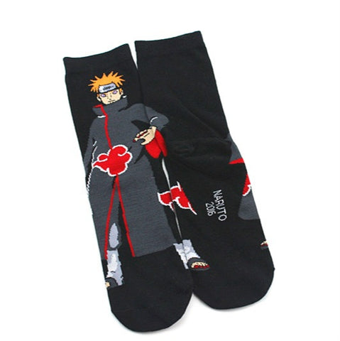1 Pair Socks Anime Naruto Uzumaki Ninja Print Cotton Socks