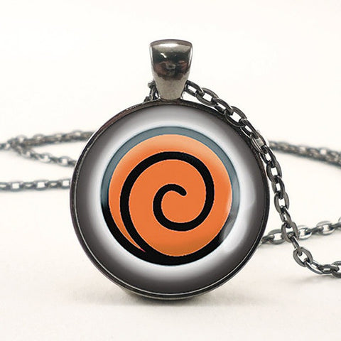 Naruto Pendant Glass Dome Necklace