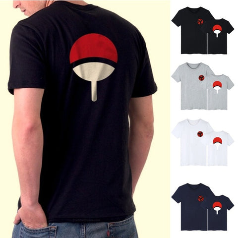 New Fashion Animation Naruto Sasuke Short Sleeved T-shirt