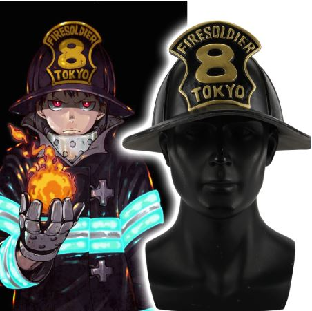 Fire Force: Firesoldier Helmet HIGH QUALITY Cosplay