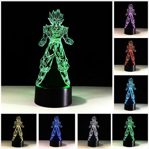 Dragon Ball Goku LED Night Lamp Various Colours