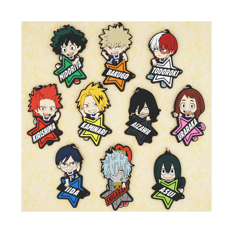 Boku no Hero Academia: Character and Name PVC Silicon Keychains