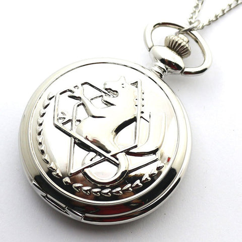 Fullmetal Alchemist: Edward Elric VINTAGE Silver Pocketwatch High Quality Cosplay