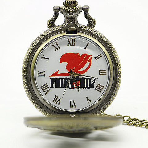 Fairy Tail: Bronze Metal Pocket Watch
