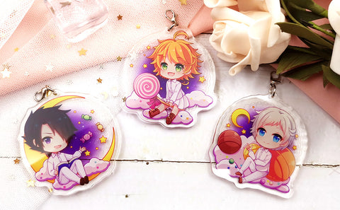 The Promised Neverland: Ray Emma Norman Acrylic Charms