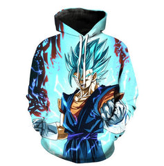 Dragon Ball Vegito Sweatshirt Icy Blue Vivid Colour