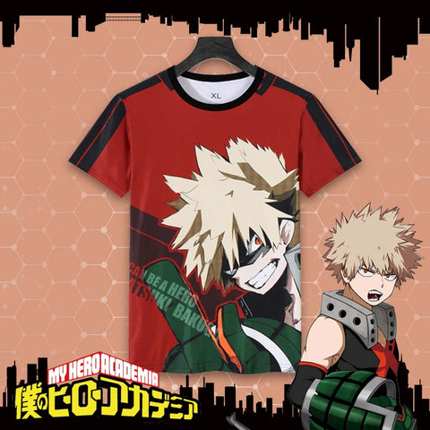 My Hero Academia: Bakugo Katsuki Themed T shirt Original Print